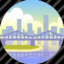 australia, bridge, brisbane, city, cityscape, queensland, urban icon