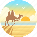 australia, beach, broome, cable beach, camel, tourism icon