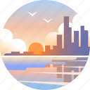 australia, beach, broadbeach, coast, gold coast, queensland, skyline icon