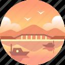 australia, bridge, hobart, tasmania, tourism, waterfront icon