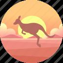animal, australia, kangaroo, marsupial, outback, wallaby, wildlife icon