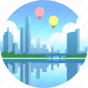 australia, city, cityscape, melbourne, skyline, skyscraper icon