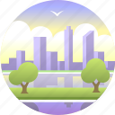australia, city, cityscape, landscape, perth, skyline, skyscraper icon