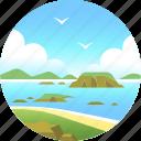 australia, coastline, island, landscape, nobbies, phillip island, shore icon