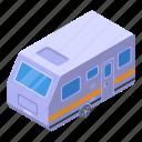 motorhome, trailer, isometric
