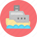 cargo ship, freighter, ship, shipping icon