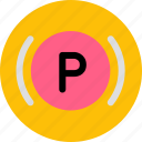 car, handbrake, parking icon
