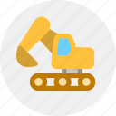 construction vehicles, excavator icon