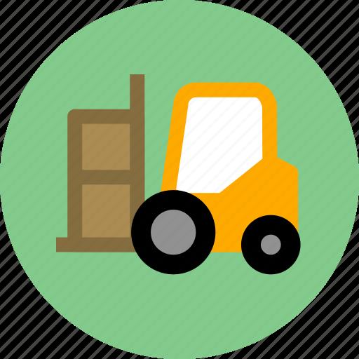 cargo, forklift icon