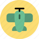aeroplane, aircraft, airfield, airplane, airport, plain, plant icon