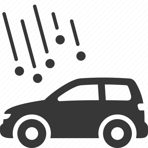 auto insurance, car insurance, damage, hail insurance icon