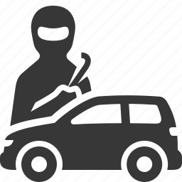 auto insurance, car insurance, theft icon