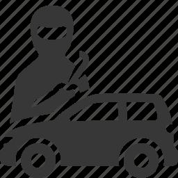 auto insurance, car insurance, theft, vandalism icon