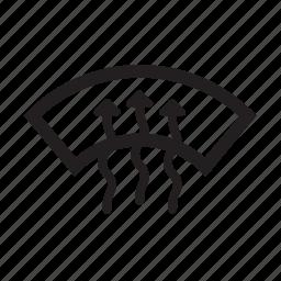 auto, heat, parts, windscreen, windshleid icon