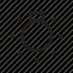 auto, bright, light, parts icon
