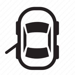 auto, back, car, doors, left, open, parts icon