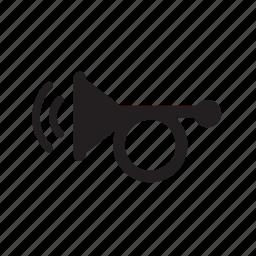 auto, horn, parts, trompet icon