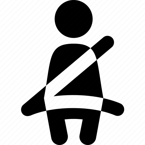 auto, automobile, car, passenger, person, saftey, seat belt icon
