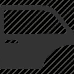auto, automobile, car, door, doorway icon icon