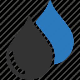 blood, drop, oil, rain, water, water drop icon