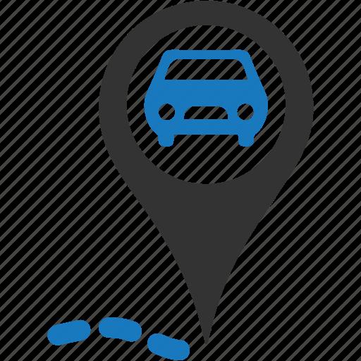 auto, location, point, repair, service icon
