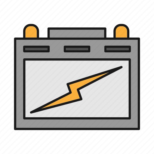accumulator, battery, car, energy, power, vehicle, voltage icon
