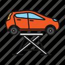 automobile, car, jack, lift, maintenance, repair, vehicle icon