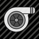 automobile, car, engine, power, turbine, turbocharger, vehicle icon