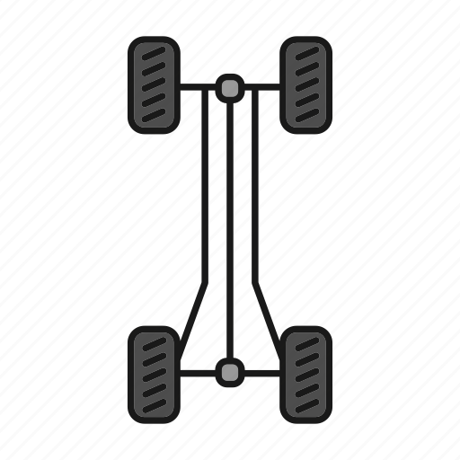 auto, automobile, car, chassis, rolling, vehicle, wheel icon