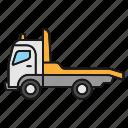 auto, car, evacuator, tow, towtruck, truck, wrecker icon