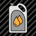 automobile, car, fuel, gasoline, jerrycan, oil, petrol icon