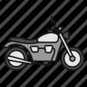 bike, motorbike, motorcycle, ride, riding, transport, vehicle icon