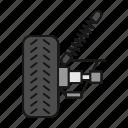 automobile, car, equipment, repair, suspension, vehicle, wheel icon