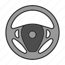 automobile, car, drive, driving, helm, steering wheel icon