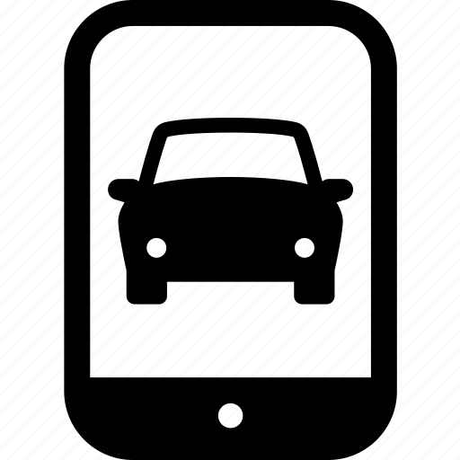 app, auto, car, phone, smart phone, vehicle icon