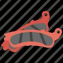 brake disc, brake pads, brake system, car brake, transportation brake icon