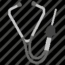 mechanic services, mechanic stethoscope, mechanical tool, problem diagnosing, workshop tool icon