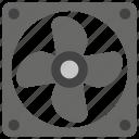 cooling agent, cooling fan, exhaust fan, fan, heat prevention icon