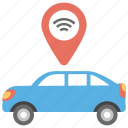 automatic car, car location, car location tracker, tacker auto car, tracker controller icon
