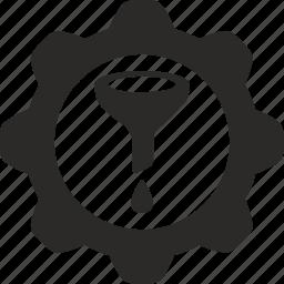conversion, filter, funnel, sort icon
