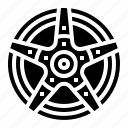 rim, wheel icon