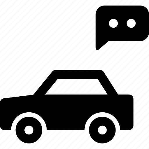 automobile, car, chat, comment, feedback, vehicle icon