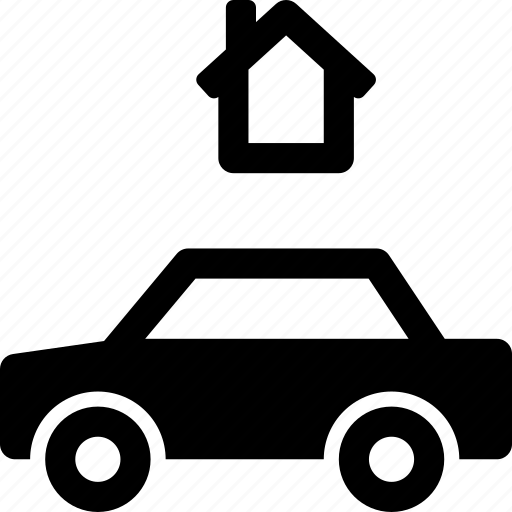 automobile, building, car, garage, home, vehicle icon