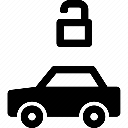 automobile, available, car, unlocked, unprotected, vehicle icon