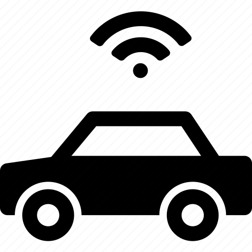 automobile, car, connection, internet, signal, vehicle, wifi icon