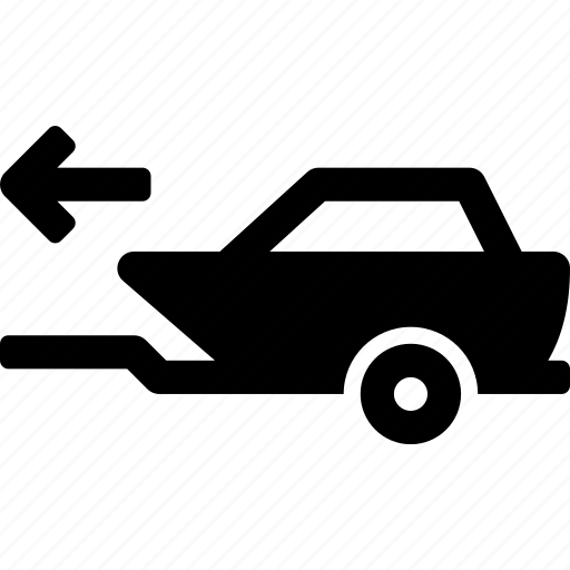boat, car, move, trailer, transport, vehicle icon