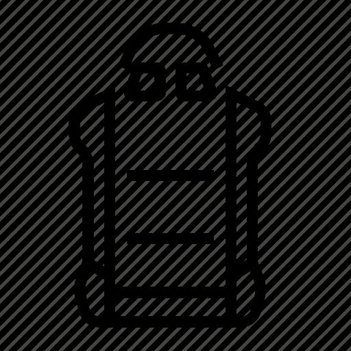bucket, fiberglass, light, racing, seat, support, weight icon