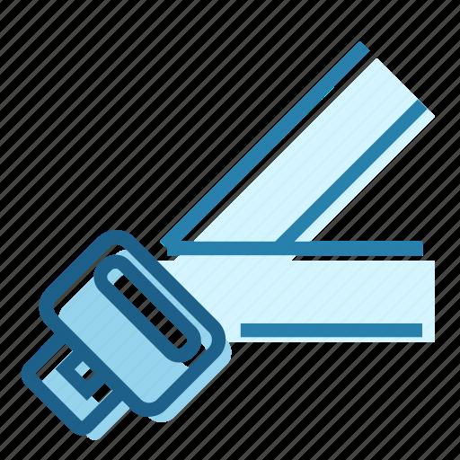 belt, crash, protection, safety, seat, seatbelt icon