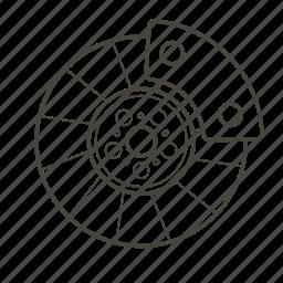 brake, car, car parts, disc, garage, part, vehicle icon