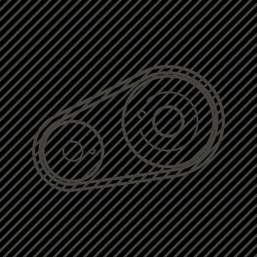 belt, car, car parts, engine, service, support, vehicle icon